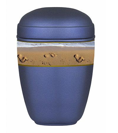 Biologische zee urn blauw